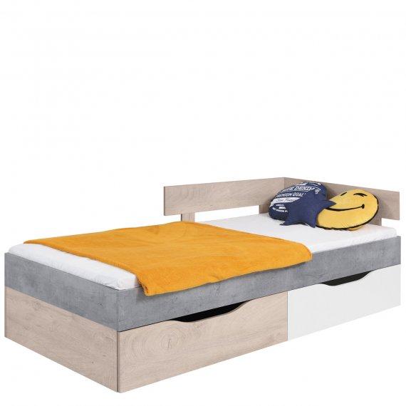 Łóżko z szufladami na pościel Pardwa PR15 / 16 L/P