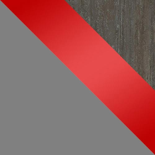 szary / czerwony połysk / trawertyn