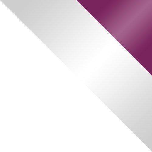 biały / biały połysk + fioletowy połysk