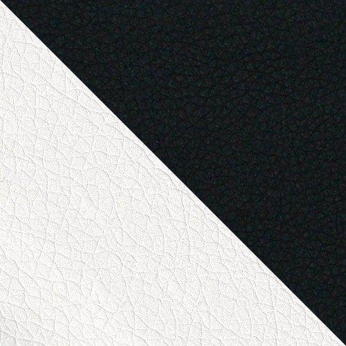biała ekoskóra + czarna ekoskóra