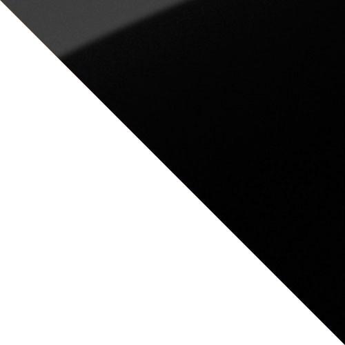 biały mat / czarne szkło