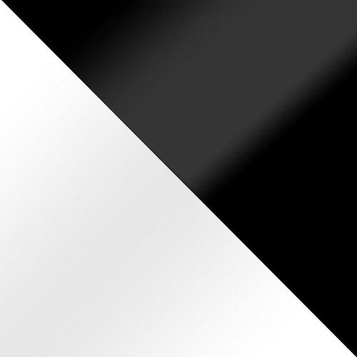 biały połysk + czarny połysk