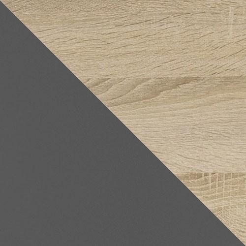 szary grafit + dąb sonoma