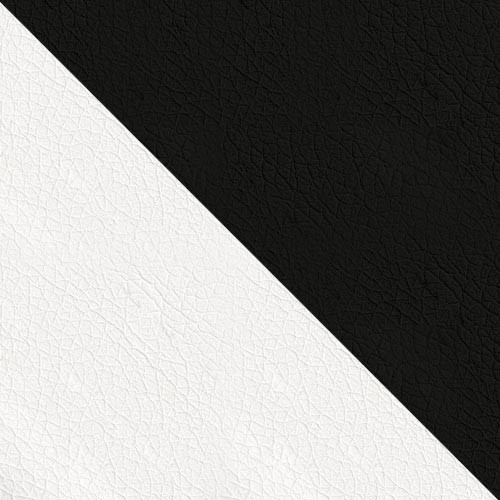 ekoskóra Soft 017 (biała) + ekoskóra Soft 011 (czarna)
