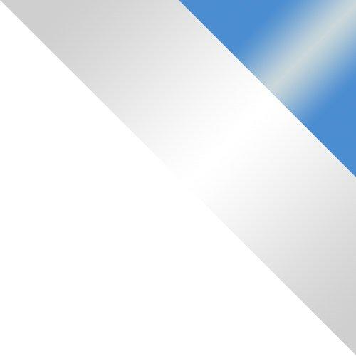 biały / biały połysk + niebieski połysk