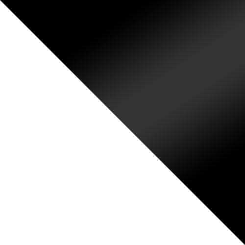 biały / czarny połysk