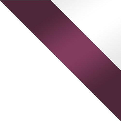 biały / fioletowy połysk + biały połysk