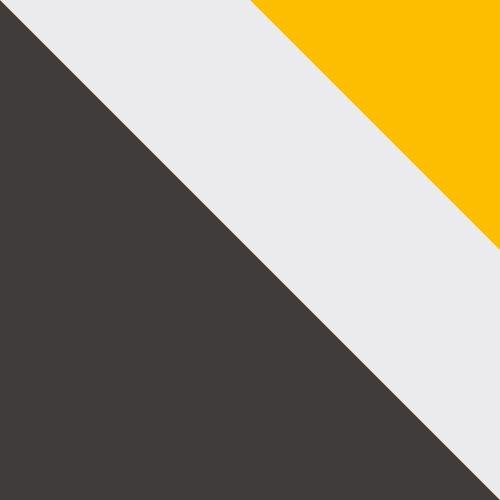 grafit / biały + żółty