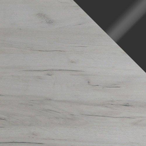 dąb craft / dąb craft + grafitowe szkło