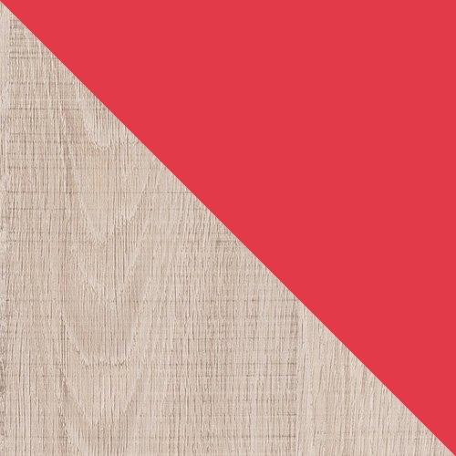 dąb santana / czerwień