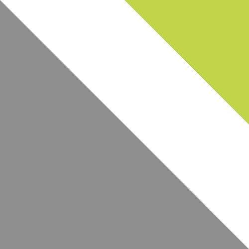 jasny grafit / biały brylantowy + zieleń mamba