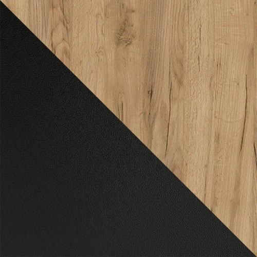 czarny mat / dąb okleina