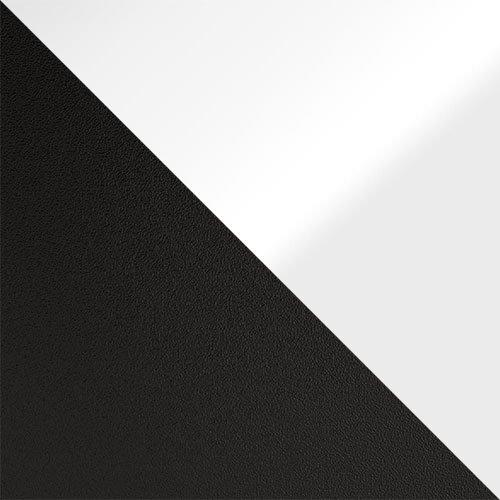 czarny mat / biały połysk