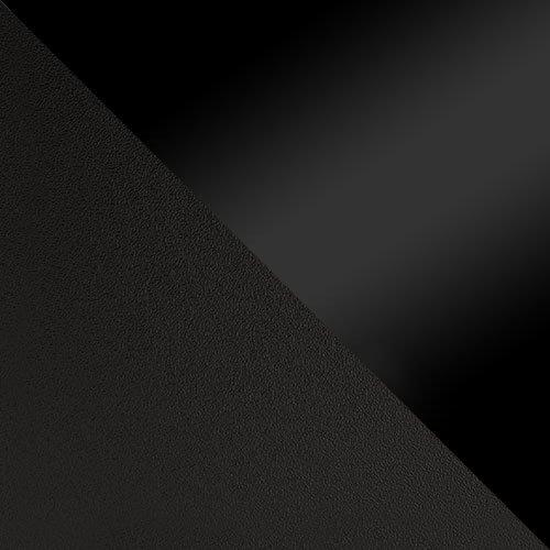 czarny mat / czarny połysk