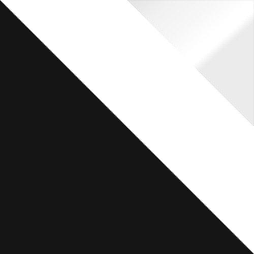 czarny / biały + biały połysk