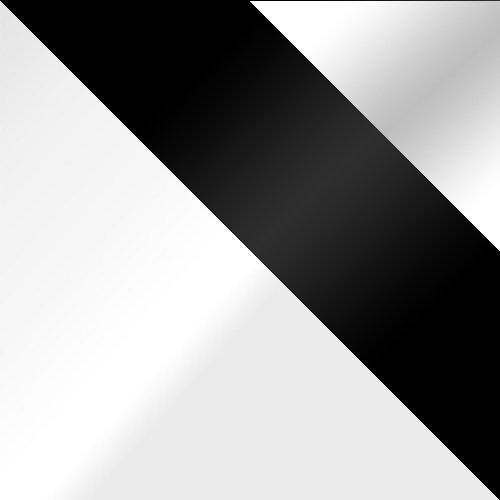 biały / czarne szkło + białe szkło