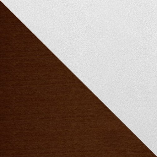 dąb ciemny / ekoskóra Soft 017 (biała)