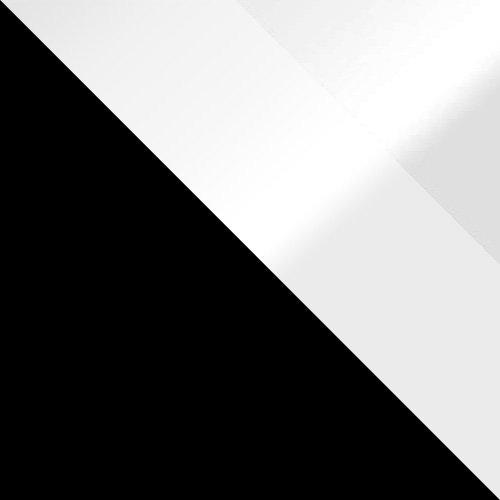 czarny / biały połysk + lustro grafit