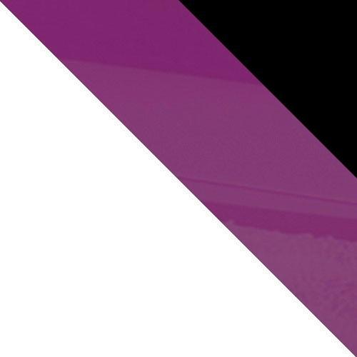 biały / czarny połysk + fioletowy połysk