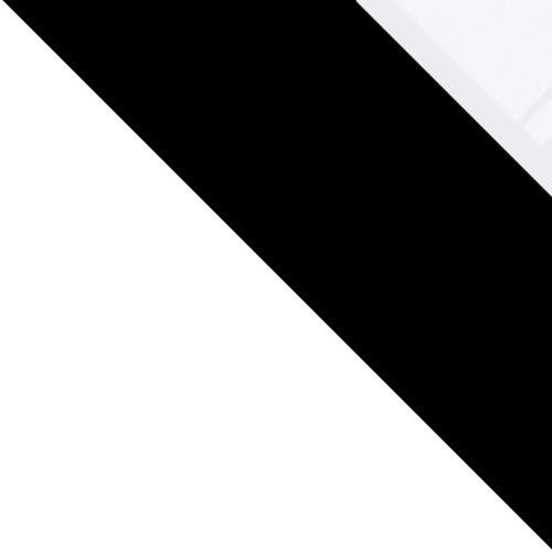 biały / czarny + białe szkło