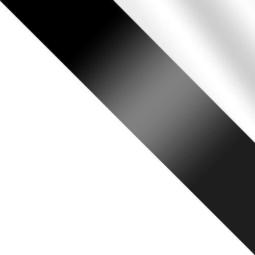 biały / czarne szkło + lustro